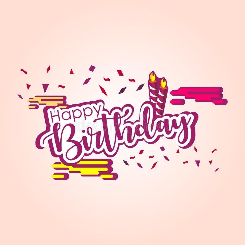 Illustration de conception de calibre de vecteur de joyeux anniversaire illustration de vecteur
