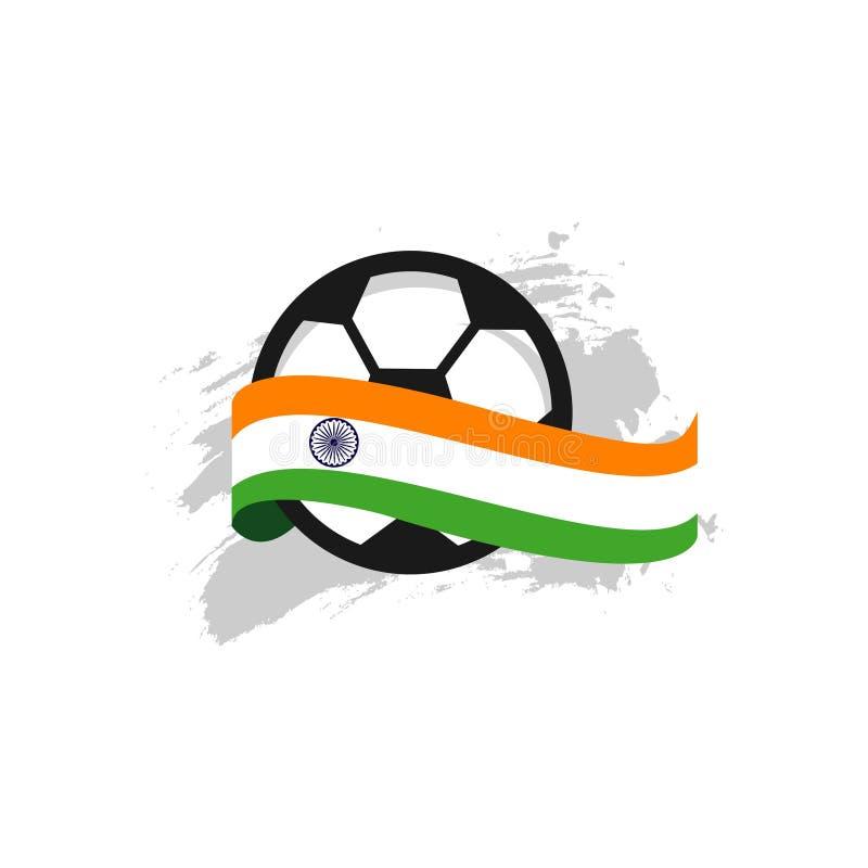 Illustration de conception de calibre de vecteur de l'Inde Club de Football illustration de vecteur