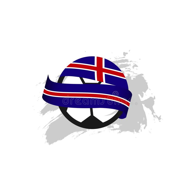 Illustration de conception de calibre de vecteur de l'Islande Club de Football illustration de vecteur