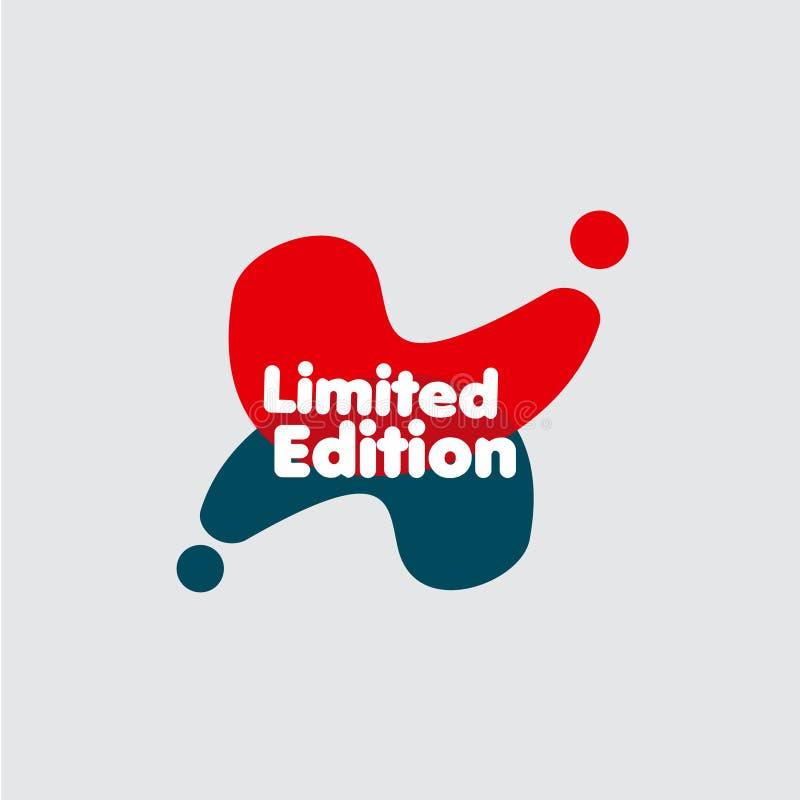 Illustration de conception de calibre de vecteur de label d'édition limitée illustration stock