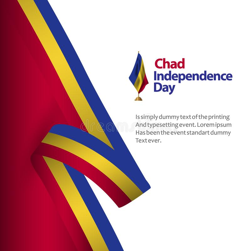 Illustration de conception de Chad Independence Day Vector Template illustration stock