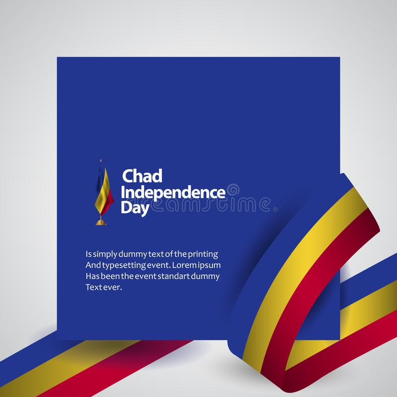 Illustration de conception de Chad Independence Day Vector Template illustration de vecteur