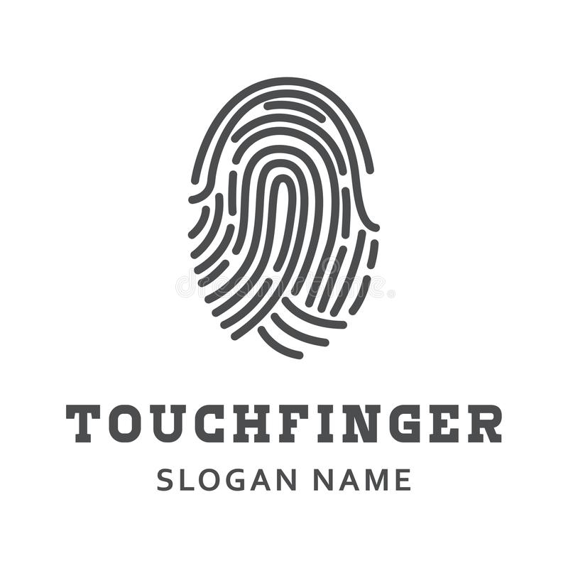 Illustration de conception d'illustration de degré de sécurité de doigt images libres de droits