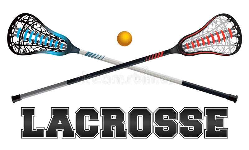 Illustration de conception de lacrosse illustration de vecteur