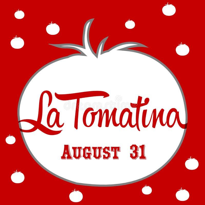 Illustration de conception de tomatina de La, un festival de tomates en Espagne illustration stock