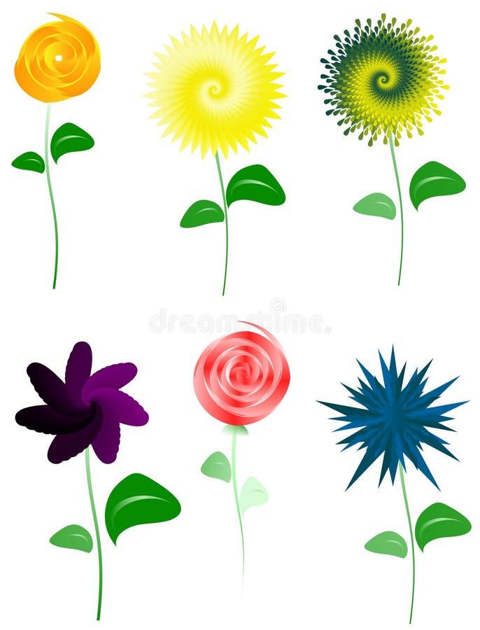 Illustration de conception florale illustration libre de droits