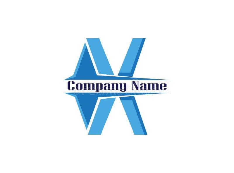 Illustration de conception de logo de lettre d'alphabet de X sur le backgroung blanc illustration de vecteur