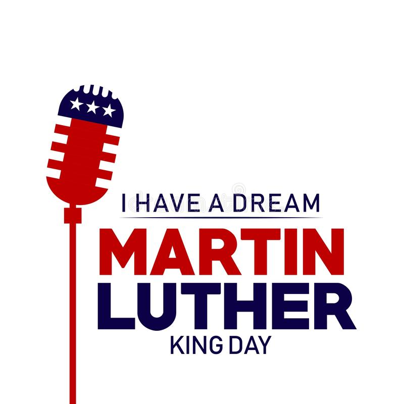 Illustration de conception de Martin Luther King Day Vector Template illustration stock