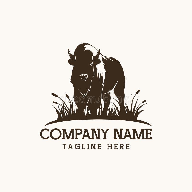 Illustration de conception de vecteur de logo de bison illustration de vecteur
