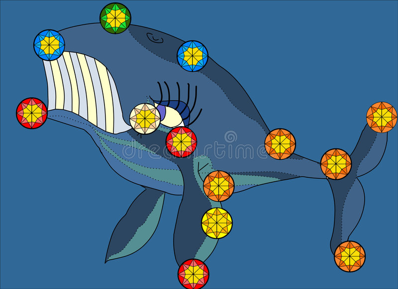 Illustration de constellation de baleine illustration libre de droits