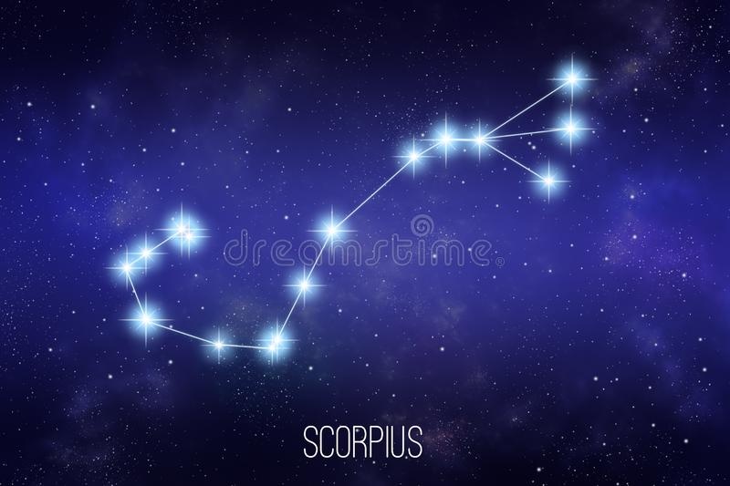 Illustration de constellation de zodiaque de Scorpius illustration de vecteur