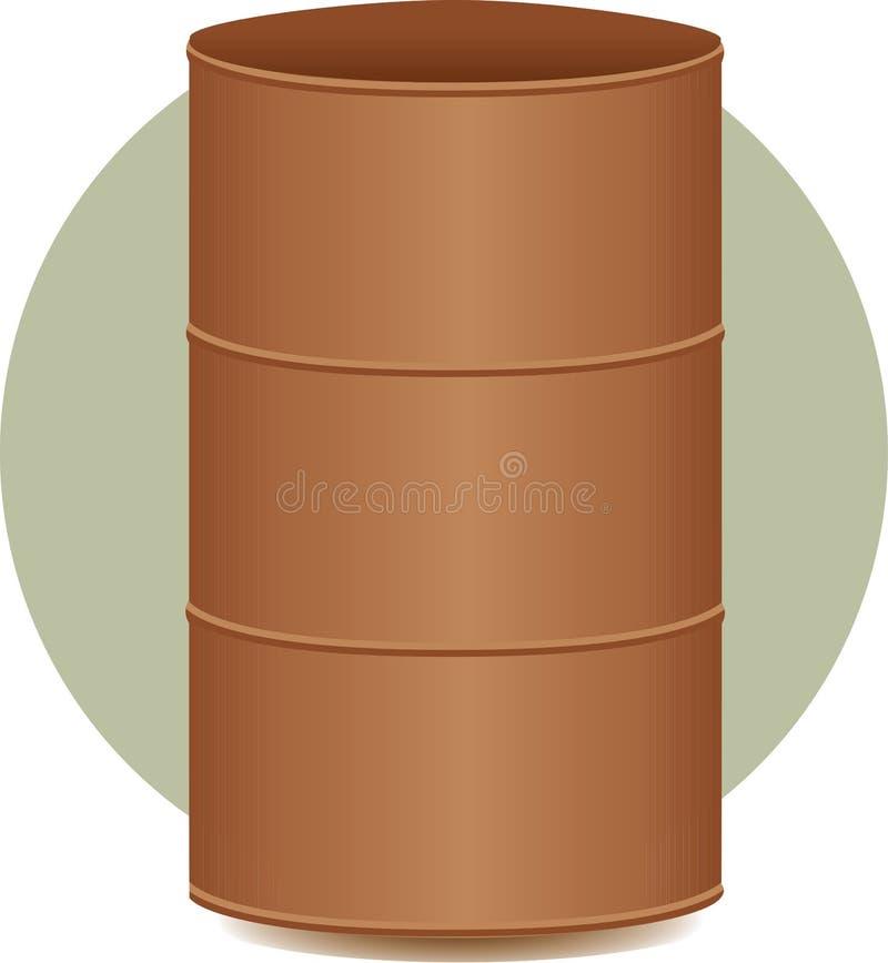 Illustration de conteneur de baril de tonneau ou en métal illustration libre de droits