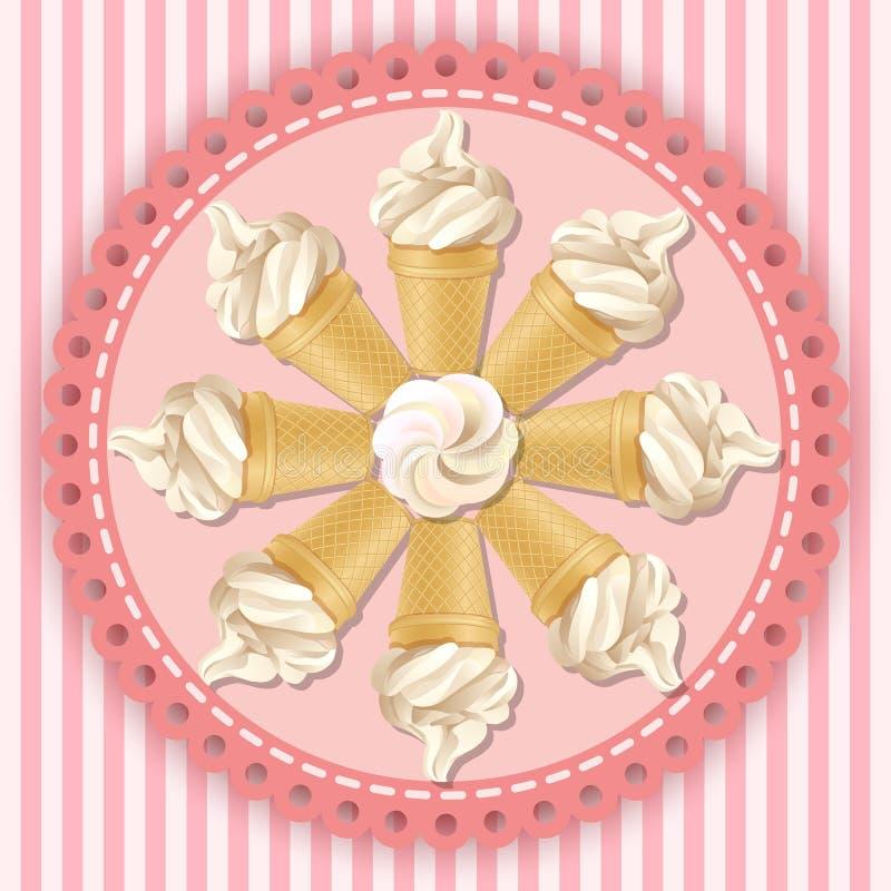 Illustration de cornet de crème glacée mou de service illustration de vecteur