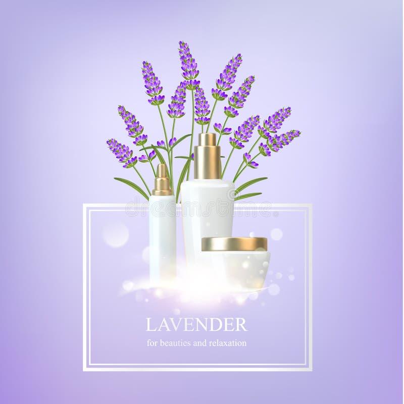 Illustration de cosmétique de soin de femmes illustration stock