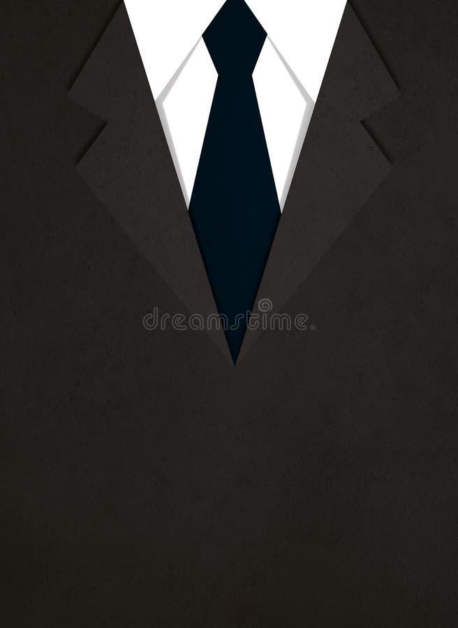 Illustration de costume avec un lien illustration stock