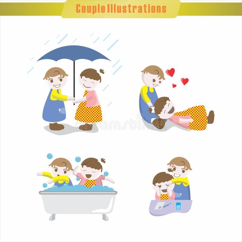 Illustration de couples photographie stock libre de droits