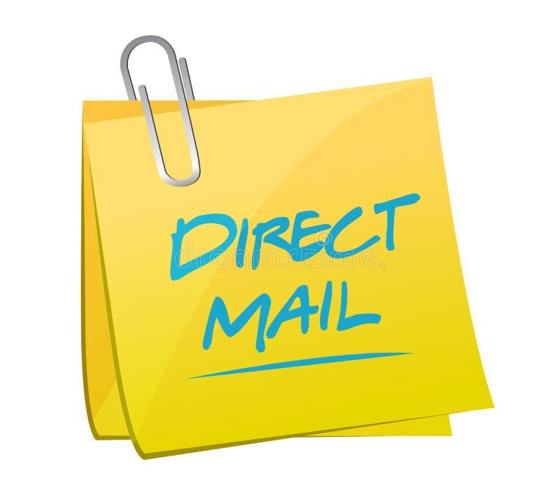 illustration de courrier de note de courrier direct illustration stock