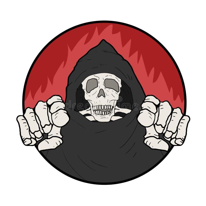 Illustration de crâne illustration libre de droits