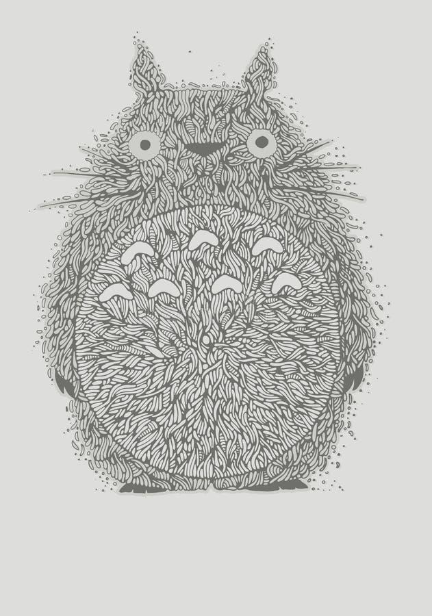 Illustration de crâne de vêtements manqués illustration stock
