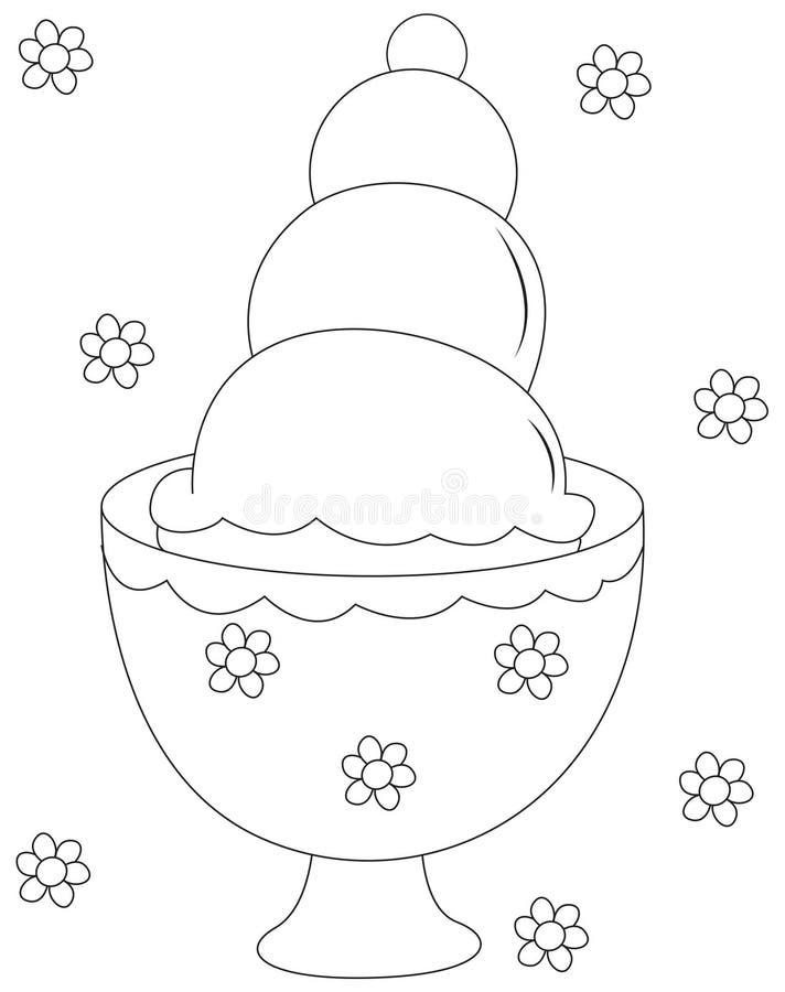Illustration de crême glacée illustration stock
