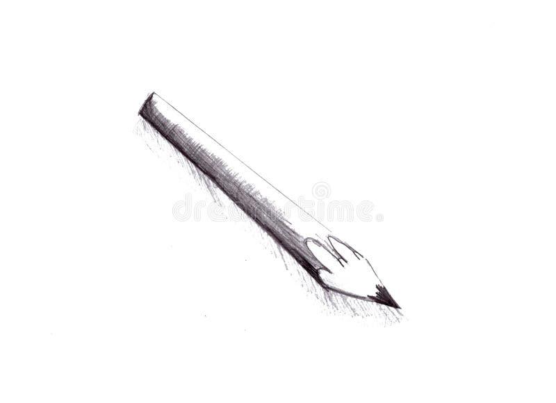 Illustration de crayon noir et blanc illustration libre de droits