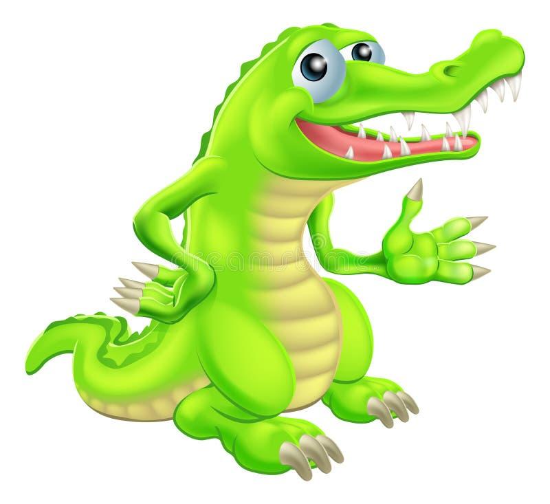 Illustration de crocodile de bande dessinée illustration de vecteur
