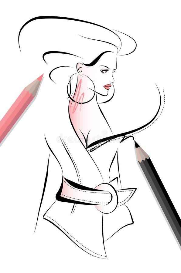 Illustration de croquis de mode illustration stock