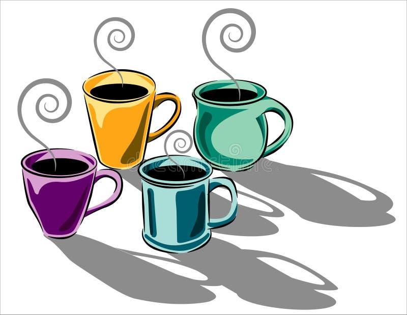 Illustration de cuvettes de café illustration de vecteur