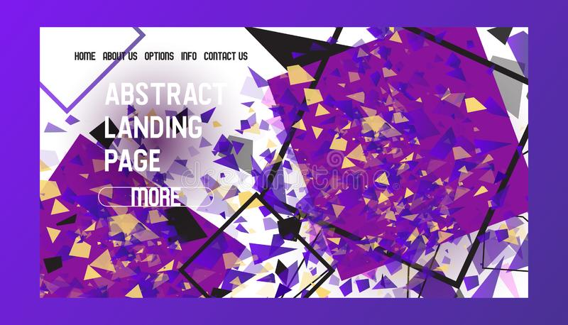 Illustration de débarquement abstraite de vecteur de conception web de bannière de page Conception de Minimalistic, concept cr?at illustration stock