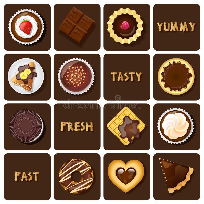 Illustration de dessert et de pâtisseries illustration libre de droits