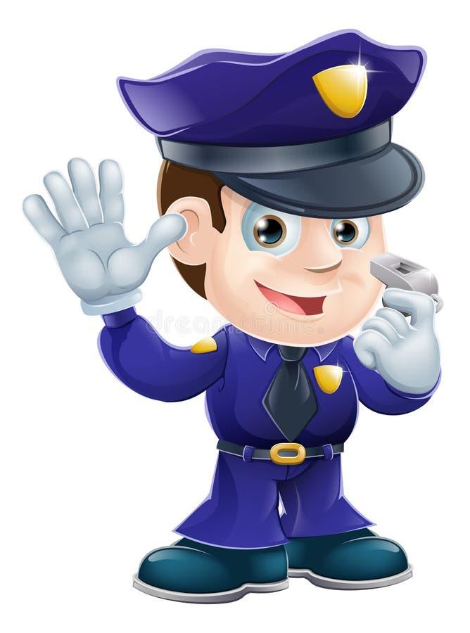 Illustration de dessin animé de caractère de policier illustration libre de droits