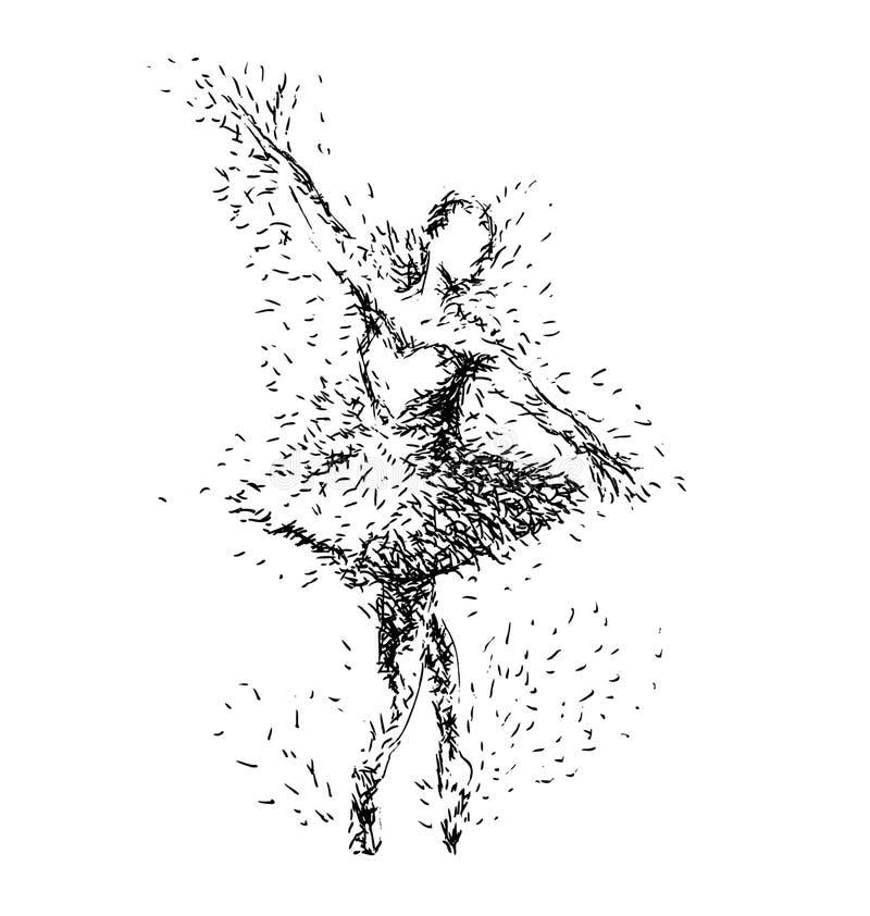 Illustration de dessin de main des ballerines illustration stock