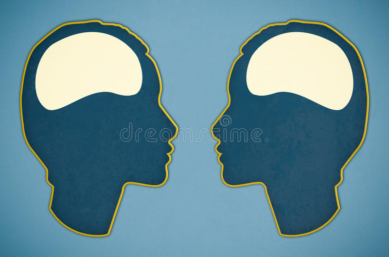Illustration de deux cerveaux illustration de vecteur