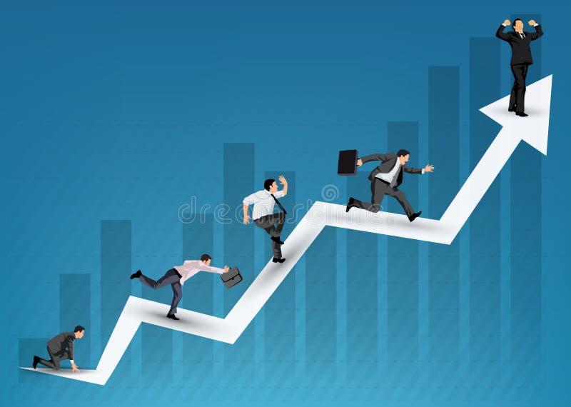 Illustration de diagramme d'affaires illustration stock