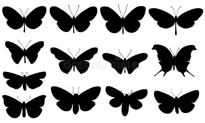 Illustration de différents papillons illustration de vecteur