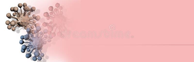 Illustration de Digital 3d des cellules cancéreuses photos libres de droits