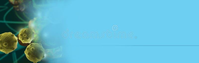 Illustration de Digital 3d des cellules cancéreuses photo stock