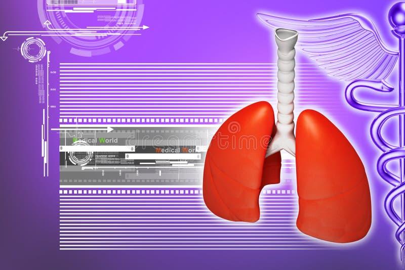 Illustration de Digital des poumons illustration de vecteur