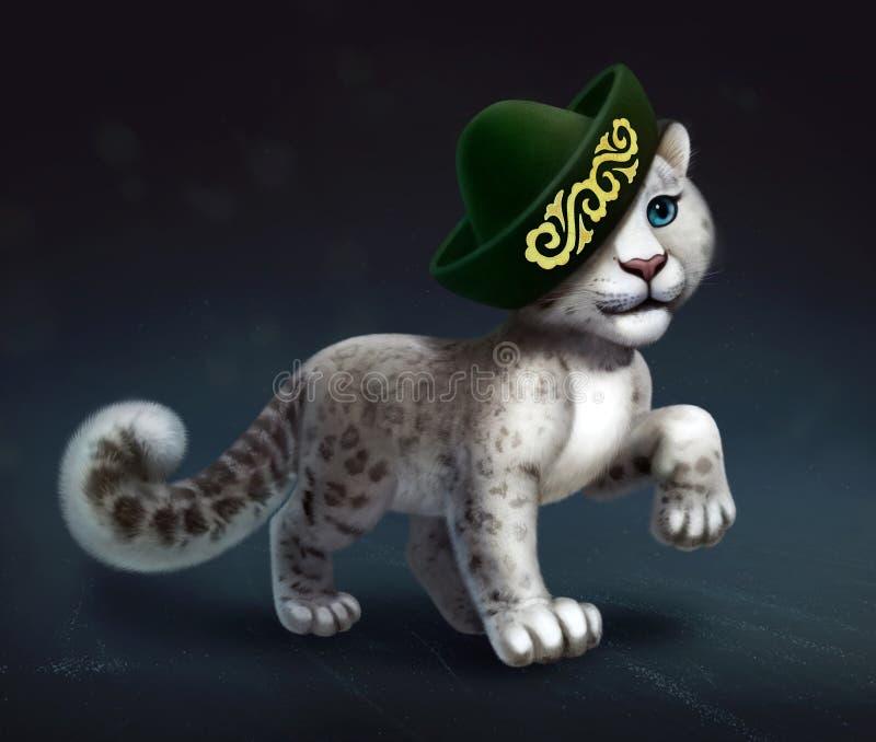 Illustration de Digital de léopard de neige illustration stock