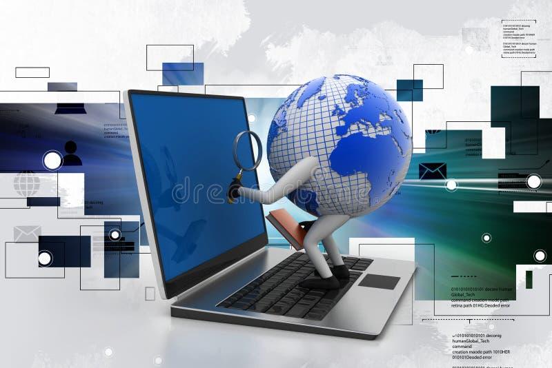Illustration de Digital de l'analyse globale illustration stock