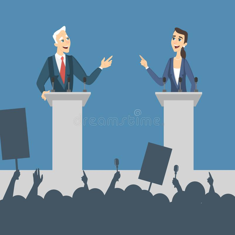 Illustration de discussions politiques illustration libre de droits