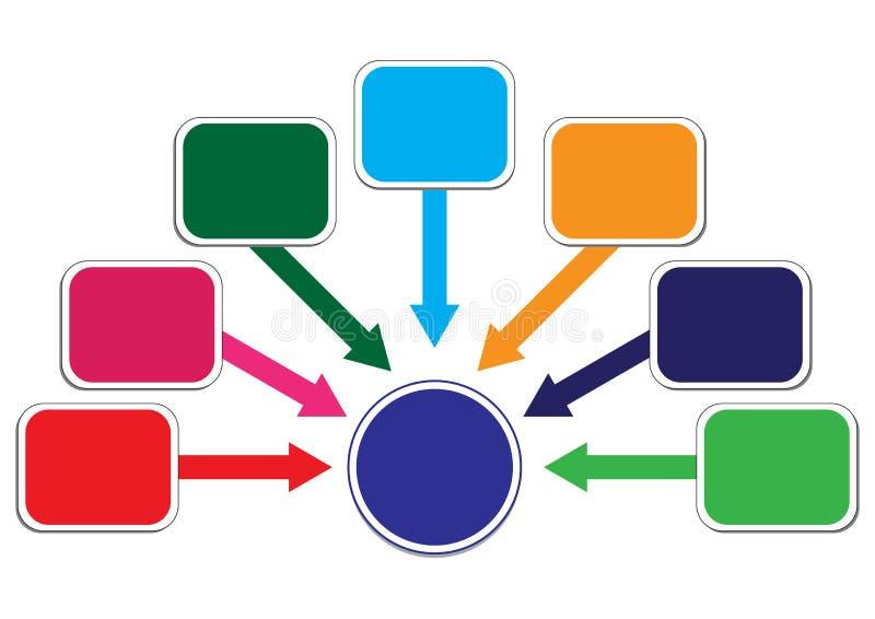 Illustration de distribution de bénéfice et de richesse illustration de vecteur