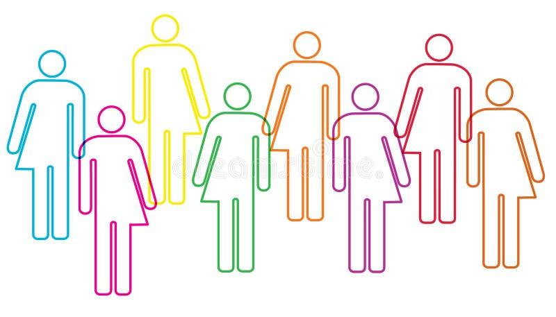 Illustration de diversité de genre illustration libre de droits