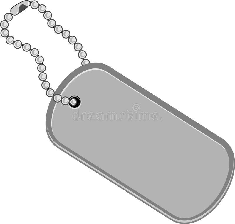 Illustration de Dogtag/keychain illustration de vecteur
