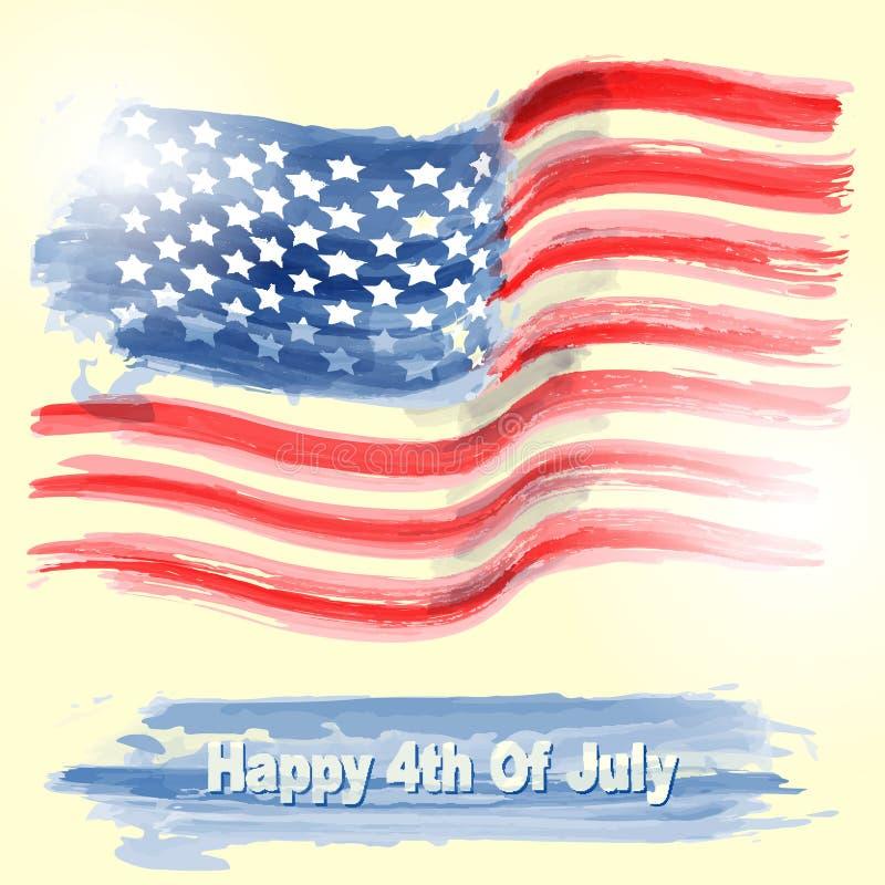 Illustration de drapeau américain illustration libre de droits