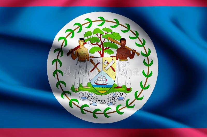Illustration de drapeau de Belize illustration de vecteur