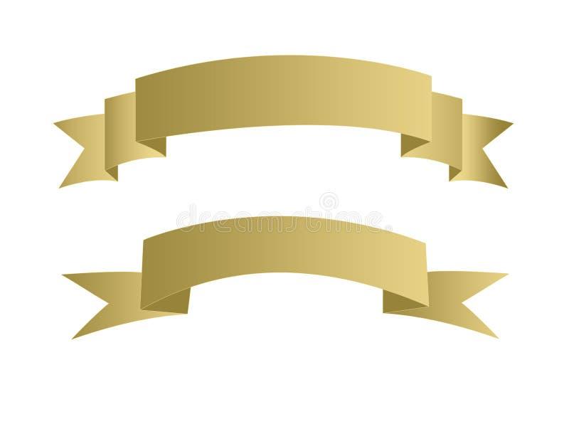 Illustration de drapeau d'or illustration stock