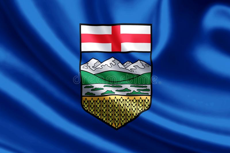 Illustration de drapeau d'Alberta illustration de vecteur