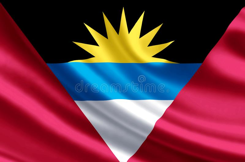 Illustration de drapeau d'Antigua et de Barbuda illustration de vecteur