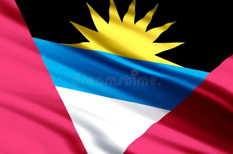 Illustration de drapeau d'Antigua et de Barbuda illustration libre de droits